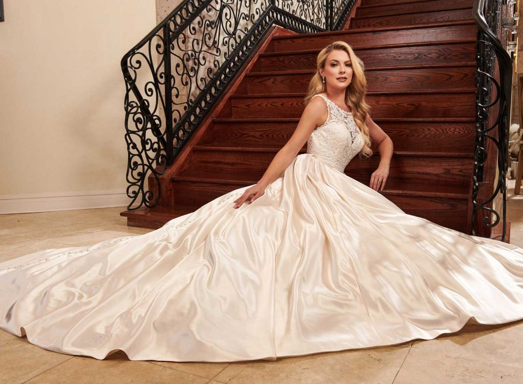 Taffeta and Lace wedding dresses Gloucester - Rachel Allan MB2078