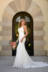 Taffeta and lace wedding dresses Stella York 7078