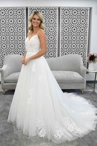 Taffeta and Lace wedding dresses Gloucester - 7304