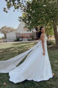 Taffeta and lace wedding dresses Gloucester 7211