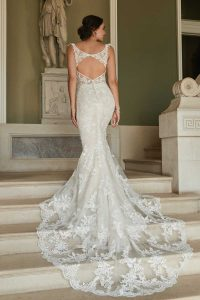 Taffeta and lace Gloucester wedding dresses 2021_romantica_tiffany