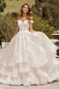 taffeta and lace wedding dresses sophia tolli y22062