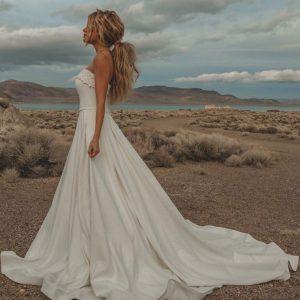 Taffeta and lace wedding dresses glouceste stella york 7045
