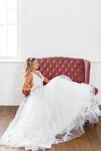 Taffeta and lace wedding dresses gloucester stella york