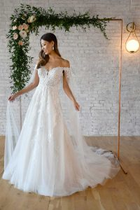 Taffeta and lace wedding gowns gloucester stella york