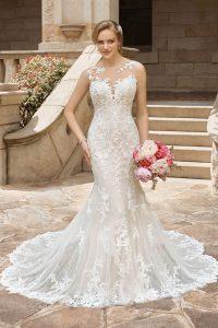 taffeta and lace gloucester wedding dresses sophia tolli_y22183-back